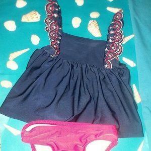 CAT & JACK 2pc BABY GIRL SWIMSUIT  Sz 18M